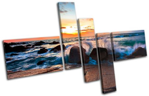 beautiful rocks Sunset Seascape - 13-0169(00B)-MP18-LO